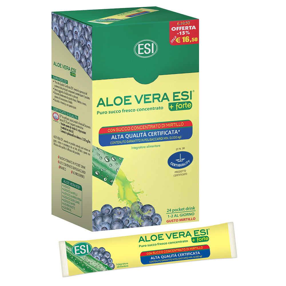 Picture of Aloe Vera Succo + Forte con Mirtillo
